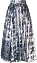 Toga metallic pleated skirt - women - Cotton/Nylon/Polyester - 40