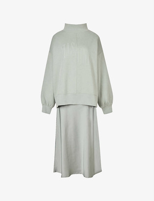 AllSaints Nevarra organic-cotton and recycled polyester-blend woven dress