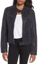 French Connection Women's Faux Leather Zip Front Jacket