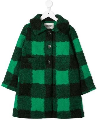 Touriste Check-Pattern Buttoned Coat