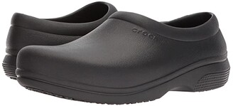 Crocs On The Clock Work Slip-On (Black) Slip on Shoes