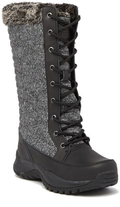 Pacific Mountain Elsa Leather Faux Fur Winter Boot