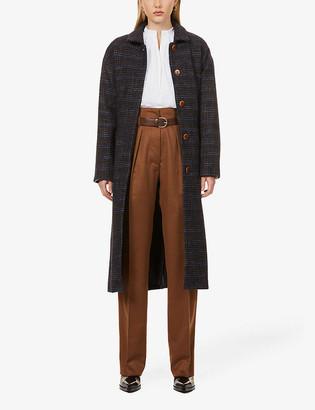 Sessun Single-breasted wool-blend coat