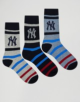 New York Yankees Nyy 3 Pack Socks