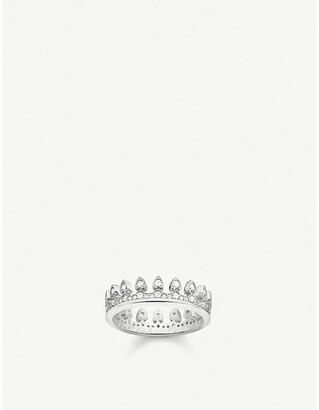 Thomas Sabo Crown sterling silver and cubic zirconia ring