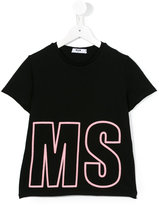 MSGM logo print T-shirt - kids - Cotton - 4 yrs