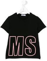 MSGM logo print T-shirt - kids - Cotton - 6 yrs