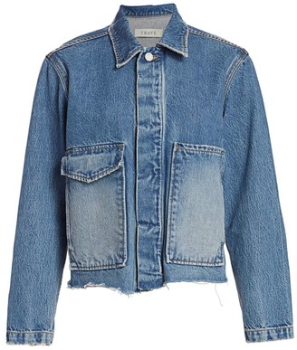 TRAVE Jane Oversized-Pocket Denim Jacket