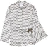 Three J NYC Phoebe Printed Cotton-poplin Pajama Set - Gray
