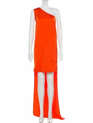 Stella McCartney 2010 Knee-Length Dress Orange