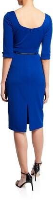 Black Halo Jackie 3/4-Sleeve Sheath Dress
