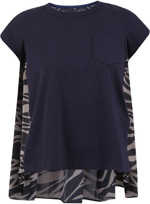 Sacai Zebra Print Jersey T-shirt