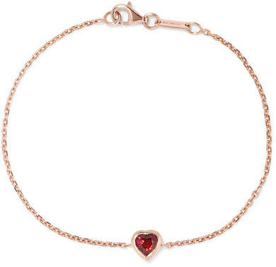 Anita Ko Heart 18-karat Rose Gold Ruby Bracelet