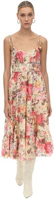Zimmermann Linen & Lace Midi Dress