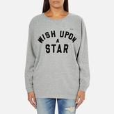 Maison Scotch Women's Wish Upon A Star Boxy Fit Sweatshirt Grey