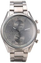 English Laundry Men's 47mm Steel Bracelet Swiss Quartz Watch El7956bk236-229