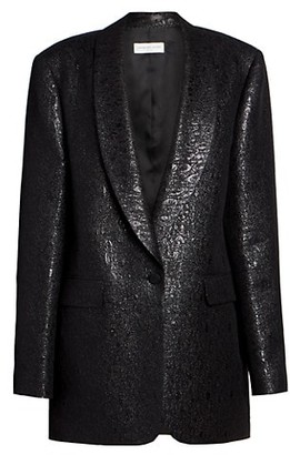 Dries Van Noten Metallic Loose Tuxedo Jacket