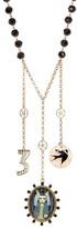 Betsey Johnson Triple Pendant Beaded Necklace