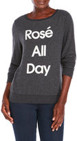 Wildfox Couture Rosé All Day Fleece Pullover