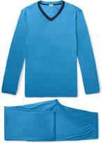 Zimmerli - Contrast-Trimmed Lyocell Pyjama Set