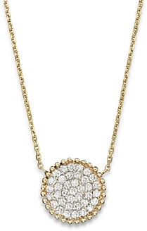Bloomingdale's Diamond Pave Disk Pendant in 14K Yellow Gold, .55 ct. t.w. - 100% Exclusive