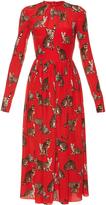 Dolce & Gabbana Cat-print silk midi dress
