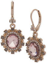 Marchesa Stone and Crystal Oval Drop Earrings