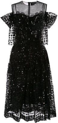 Simone Rocha Sequinned Ruffle Dress