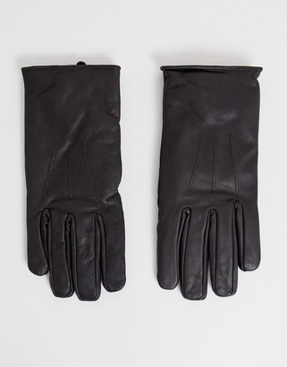 French Connection Classic Leather Glove Brown