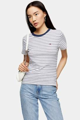 Tommy Hilfiger Womens Stripe T-Shirt By Tommy Jeans - Multi