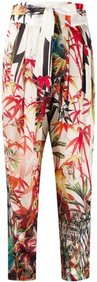 DSQUARED2 Tropical Print Tapered Trousers