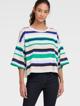 DKNY Multi-color Stripe Tee