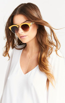 MUMU Crap Eyewear ~ The Stepping Razor ~ Gloss Camel with Amber Gradient Lenses