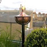 London Garden Trading Oil Burning Garden Torch In Copper Or Silver