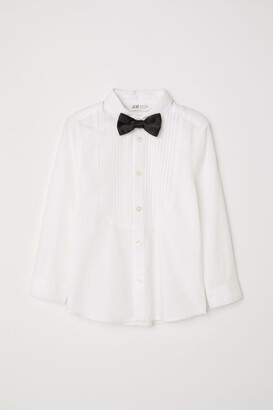 H&M Dress shirt with bow tie