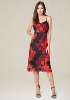 Bebe Crochet Lace Midi Dress