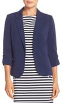 Eliza J Women's Ruched Sleeve Blazer