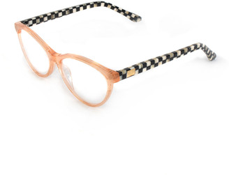 Mackenzie Childs Rose Gold Leno Readers, +2.00