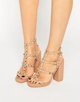 Missguided Studded Block Heel Sandal