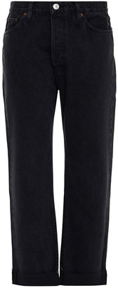 RE/DONE 90s Cropped High-rise Straight-leg Jeans