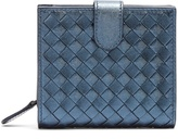 Bottega Veneta Intrecciato foldover leather wallet