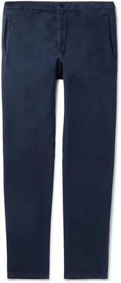 Boglioli Navy Tapered Cotton-Moleskin Drawstring Suit Trousers