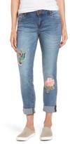 KUT from the Kloth Women's Appliqued Boyfriend Jeans