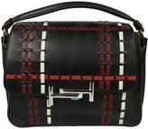 Tod's Black Check Medium Messenger