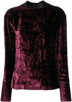 Maison Margiela crushed velvet top - women - Silk/Cotton/Cupro/Viscose - 42