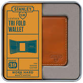 Stanley Tri Fold Leather Wallet, Tan