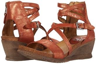 Miz Mooz Shay (Rust Metallic) Women's Wedge Shoes