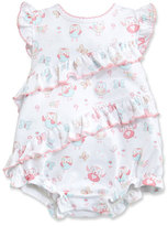 Kissy Kissy Owfully Cute Ruffle Bubble Playsuit, Pink, Size 3-18 Months