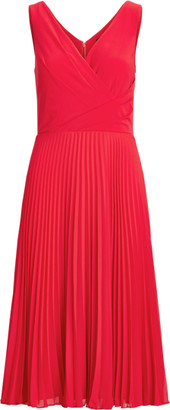 Ralph Lauren Pleated Matte Jersey Dress
