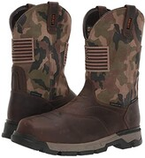 Ariat Rebartm Flex Western Patriot H2O Composite Toe (Brown/Camo) Men's Work Boots
